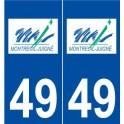49 Montreuil-Juigné logo autocollant plaque stickers ville