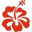 Hibiscus fleur autocollant voiture