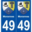 49 Morannes blason autocollant plaque stickers ville