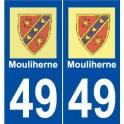 49 Mouliherne logo autocollant plaque stickers ville