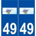 49 Noyant logo autocollant plaque stickers ville