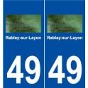 49 Rablay-sur-Layon logo sticker plate stickers city