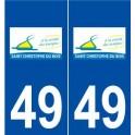 49 Saint-Christophe-du-Bois logo autocollant plaque stickers ville