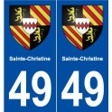 49 Sainte-Christine blason autocollant plaque stickers ville