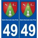49 Saint-Germain-des-Prés blason autocollant plaque stickers ville