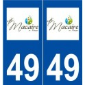 49 Saint-Macaire-en-Mauges logo autocollant plaque stickers ville