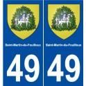 49 Saint-Martin-du-Fouilloux blason autocollant plaque stickers ville