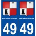 49 Saint-Quentin-en-Mauges blason autocollant plaque stickers ville