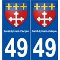 49 Saint-Sylvain-d'Anjou blason autocollant plaque stickers ville
