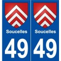 49 Soucelles coat of arms sticker plate stickers city