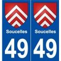 49 Soucelles blason autocollant plaque stickers ville
