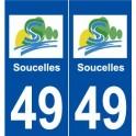 49 Soucelles logo autocollant plaque stickers ville