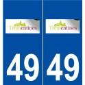 49 Trémentines logo autocollant plaque stickers ville