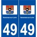 49 Varennes-sur-Loire logo sticker plate stickers city