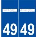 49 Varrains logo autocollant plaque stickers ville