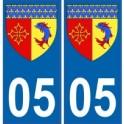 05 Hautes Alpes autocollant plaque blason armoiries stickers