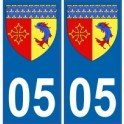 05 Hautes Alpes autocollant plaque blason armoiries stickers