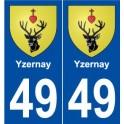 49 Yzernay blason autocollant plaque stickers ville