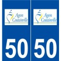 50 Agon-Coutainville logo sticker plate stickers city