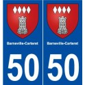 50 Barneville-Carteret blason autocollant plaque stickers ville
