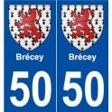 50 Brécey blason autocollant plaque stickers ville