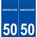 50 Bréhal logo sticker plate stickers city