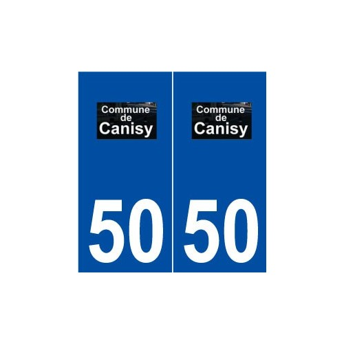 50 Canisy logo autocollant plaque stickers ville