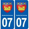 07 Boulieu-lès-Annonay blason ville autocollant plaque stickers