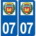 07 Boulieu-lès-Annonay logo ville autocollant plaque stickers