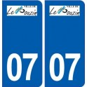 07 Le Pouzin logo ville autocollant plaque stickers