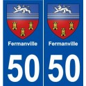 50 Fermanville coat of arms sticker plate stickers city