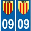 09 Foix blason ville ariège autocollant plaque