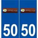 50 Gréville-Hague logo sticker plate stickers city