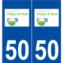 50 Isigny-le-Buat logo autocollant plaque stickers ville