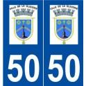 50 La Glacerie logo autocollant plaque stickers ville