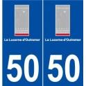 50 La Lucerne-d'Outremer logo autocollant plaque stickers ville
