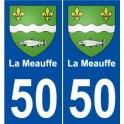 50 La Meauffe coat of arms sticker plate stickers city