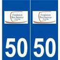 50 Picauville logo autocollant plaque stickers ville