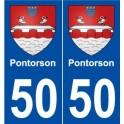 50 Pontorson coat of arms sticker plate stickers city