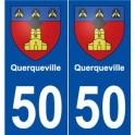 50 Querqueville blason autocollant plaque stickers ville