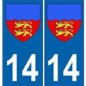 14 Calvados autocollant plaque blason armoiries stickers département