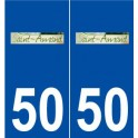 50 Saint-Amand logo sticker plate stickers city