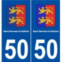50 Saint-Germain-le-Gaillard logo sticker plate stickers city