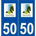 50 Sartilly logo sticker plate stickers city