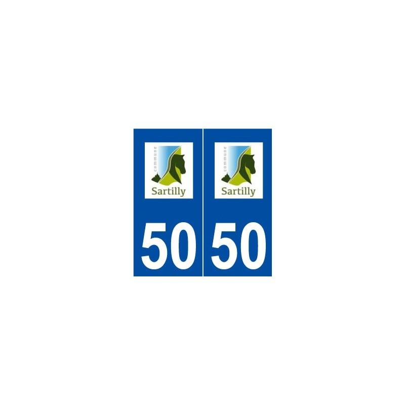 50 sartilly logo autocollant plaque immatriculation stickers ville. Black Bedroom Furniture Sets. Home Design Ideas