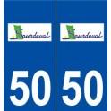 50 Sourdeval logo autocollant plaque stickers ville