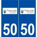 50 Tréauville logo sticker plate stickers city