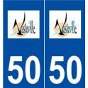 50 Vasteville logo sticker plate stickers city