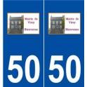50 Virey logo autocollant plaque stickers ville