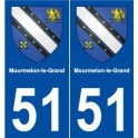 51 Mourmelon-le-Grand blason autocollant plaque stickers ville